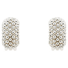 Buy Finesse Textured Clip-On Earrings, Silver Online at johnlewis.com
