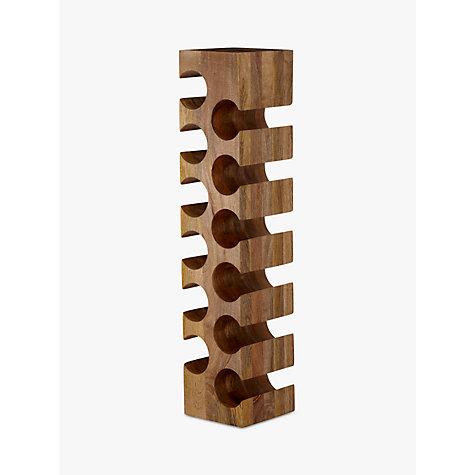 Buy john lewis wine rack 12 bottle mango wood john lewis - Wine rack for small space plan ...