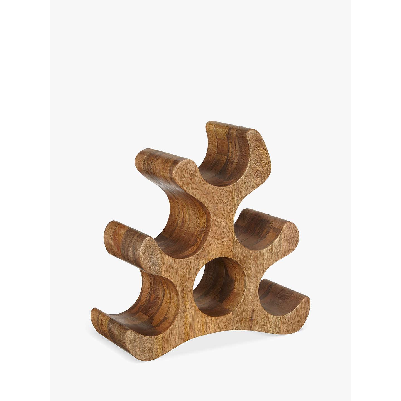 John Lewis Wine Rack 6 Bottle Mango Wood Online At Johnlewis Com
