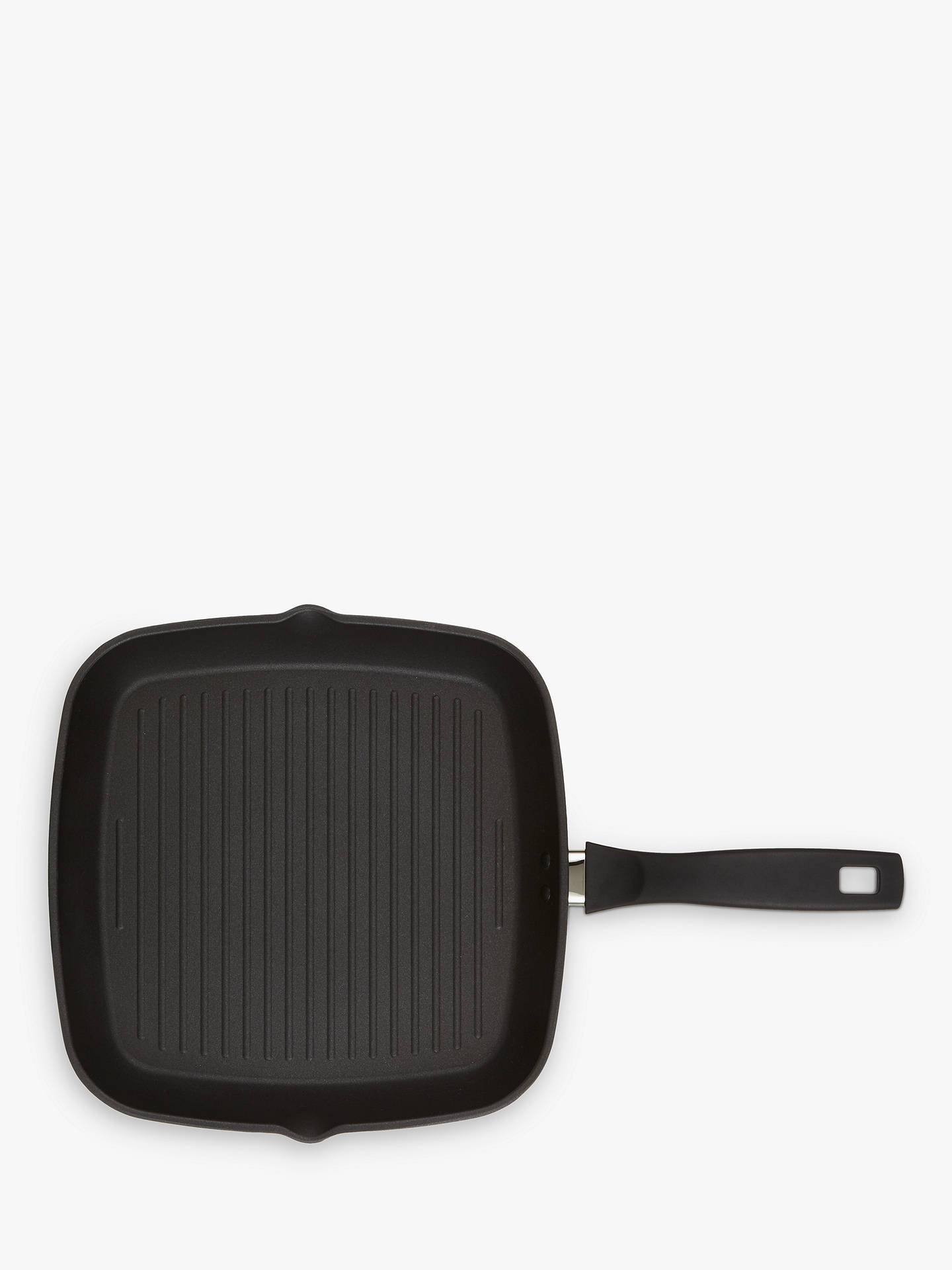 BuyJohn Lewis & Partners Hard Anodised Aluminium Non-Stick Grill Pan, 28cm Online at johnlewis.com