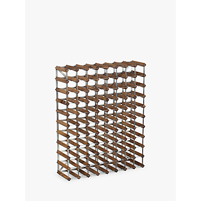 Traditional Wine Rack Co. Red Wood Wine Rack, 90 Bottle, Dark Oak Stain