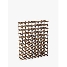 Buy Traditional Wine Rack Co. Red Wood Wine Rack, 90 Bottle, Dark Oak Stain Online at johnlewis.com