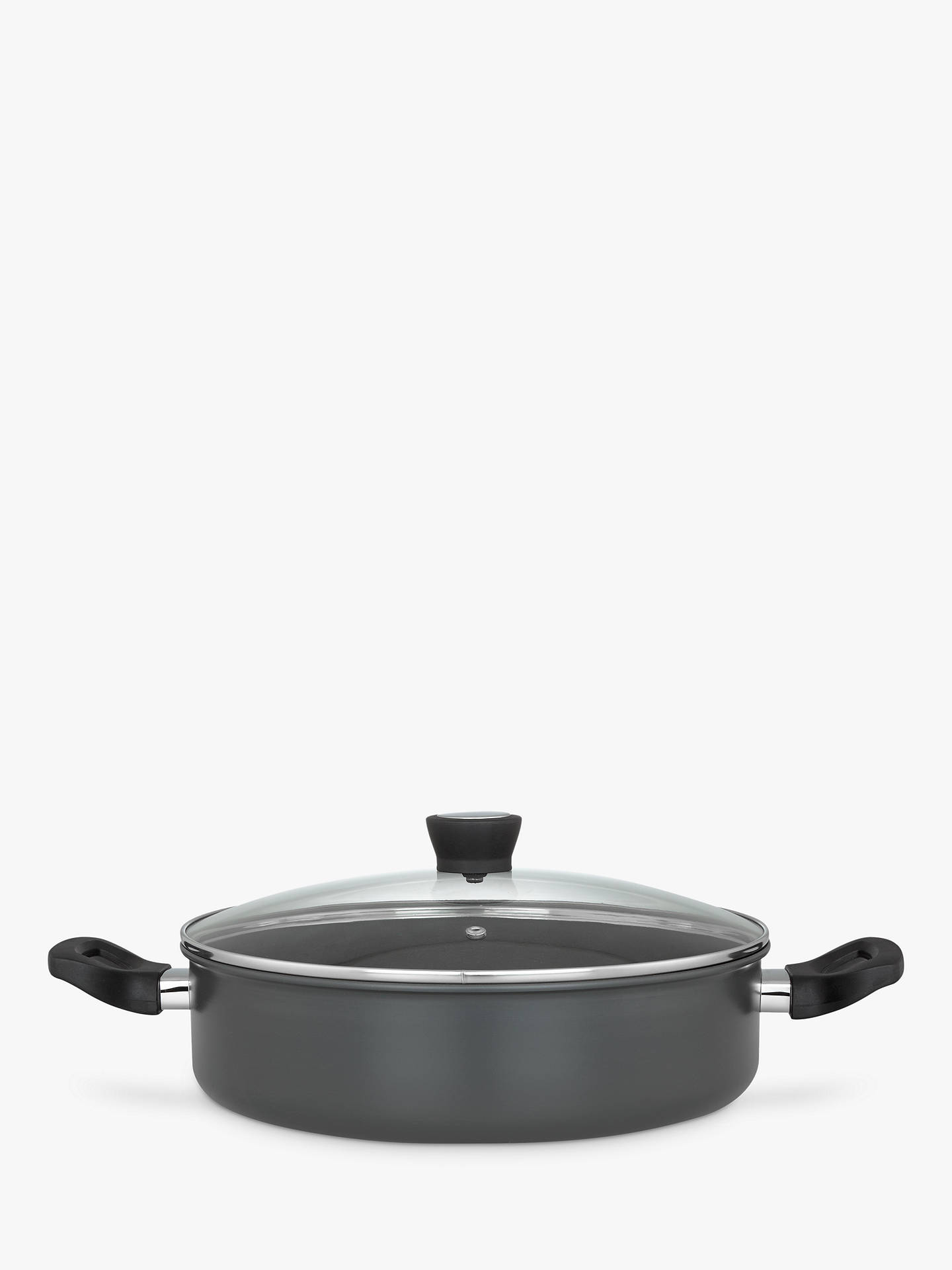 Buy John Lewis & Partners Hard Anodised Aluminium Non-Stick Shallow Casserole, 30cm Online at johnlewis.com
