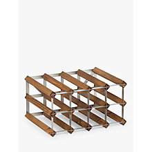 Buy Traditional Wine Rack Co. Red Wood Wine Rack, 12 Bottle, Dark Oak Stain Online at johnlewis.com
