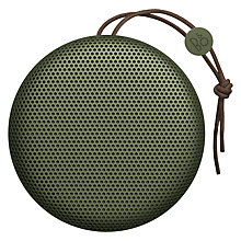 Buy B&O PLAY by Bang & Olufsen Beoplay A1 Portable Bluetooth Speaker, Moss Green Online at johnlewis.com