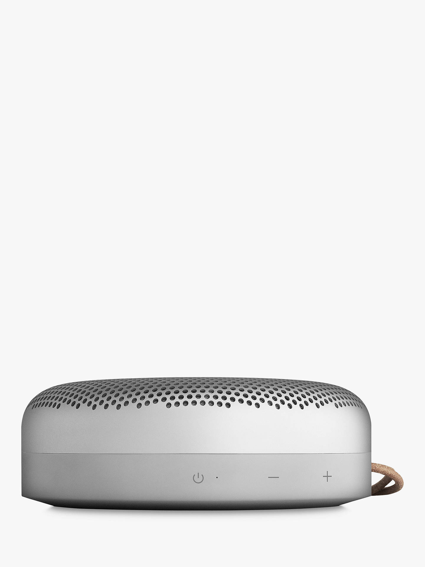 BuyB&O PLAY by Bang & Olufsen Beoplay A1 Portable Bluetooth Speaker, Silver Online at johnlewis.com