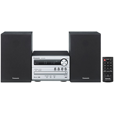 Buy Panasonic SC-PM250BEBS Bluetooth Micro Hi-Fi System With FM/DAB+ Radio & XBS Master Sound Online at johnlewis.com