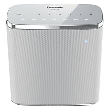 Buy 2x Panasonic SC-ALL05 Multiroom Waterproof Bluetooth Portable Speaker, White Online at johnlewis.com