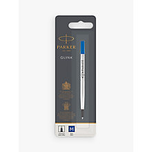 Buy Parker Quink Rollerball Pen Medium Refill, Blue Online at johnlewis.com