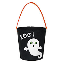Buy John Lewis Halloween Ghost Felt Bucket Online at johnlewis.com