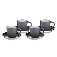 Buy John Lewis The Basics Espresso Cup & Saucer, Set of 4 Online at johnlewis.com