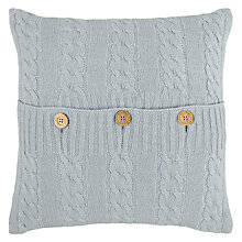 Buy John Lewis Croft Collection Cashmere Blend Cable Knit Cushion Online at johnlewis.com