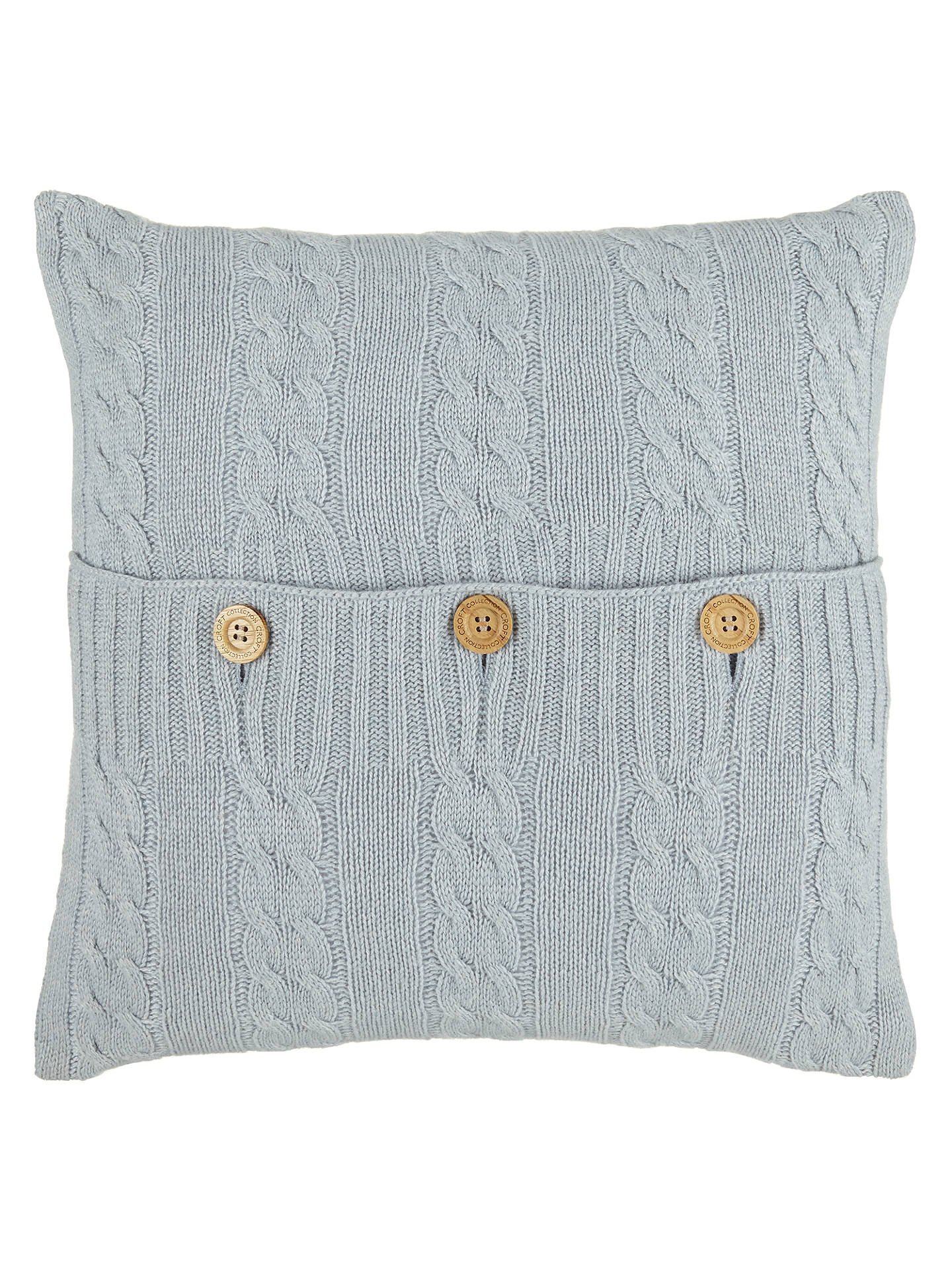 Croft Collection Cashmere Blend Cable Knit Cushion At John Lewis