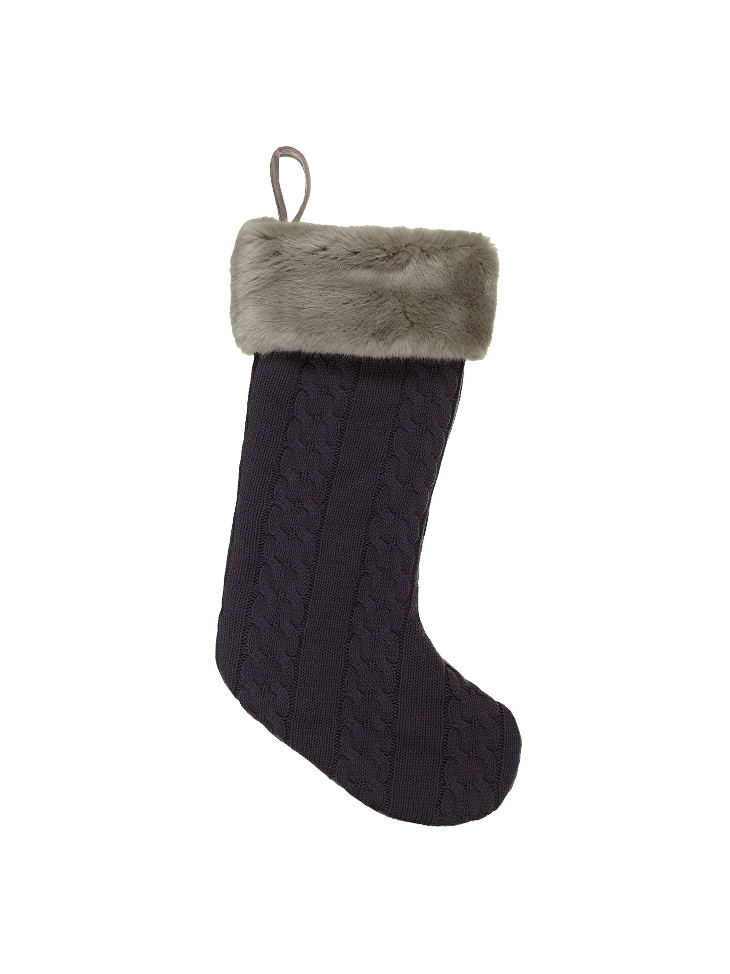 Cable Knit Christmas Stockings.John Lewis Cable Knit Faux Fur Christmas Stocking At John