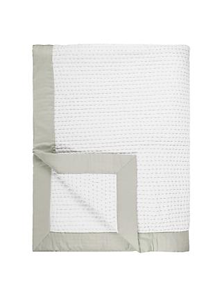 John Lewis & Partners Lydia Stitch Throw, White