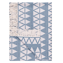 Buy John Lewis Triangles Throw, Spruce Online at johnlewis.com