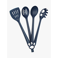 Buy House by John Lewis Kitchen Utensils, Set of 4, Navy Online at johnlewis.com