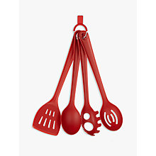Buy House by John Lewis Kitchen Utensils, Set of 4, Red Online at johnlewis.com
