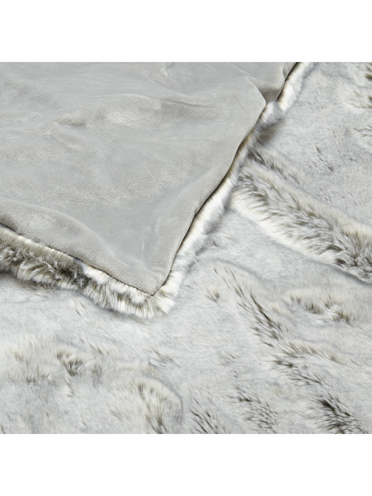 BuyJohn Lewis & Partners Faux Fur Throw, Ice Grey Online at johnlewis.com