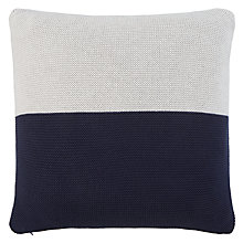 Buy House by John Lewis Half Half Cushion, Navy Online at johnlewis.com