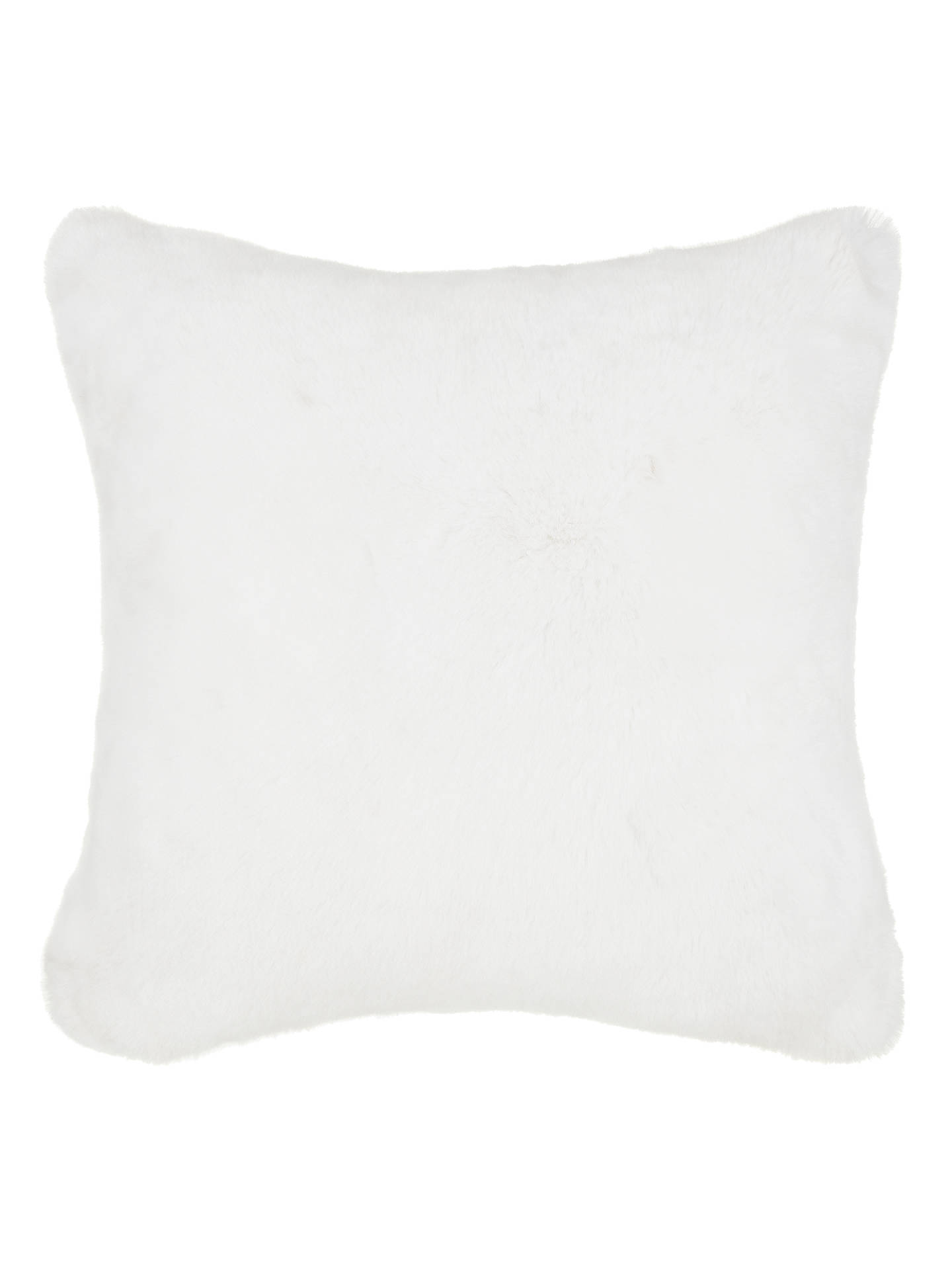 Buy John Lewis & Partners Soft Faux Fur Large Cushion, White Online at johnlewis.com