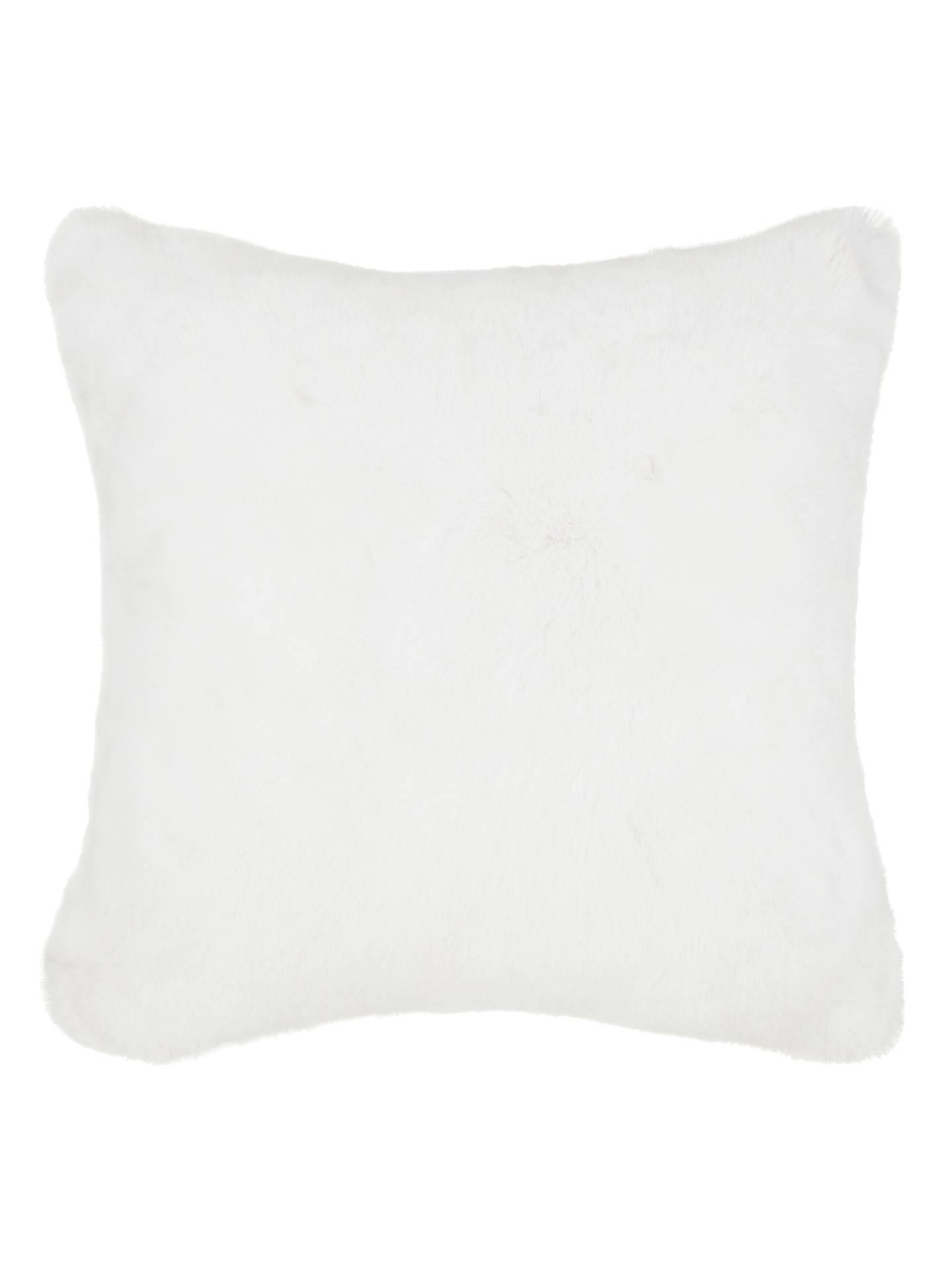john lewis partners soft faux fur large cushion at john. Black Bedroom Furniture Sets. Home Design Ideas