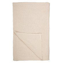 Buy John Lewis Moet Knitted Throw, Putty Online at johnlewis.com