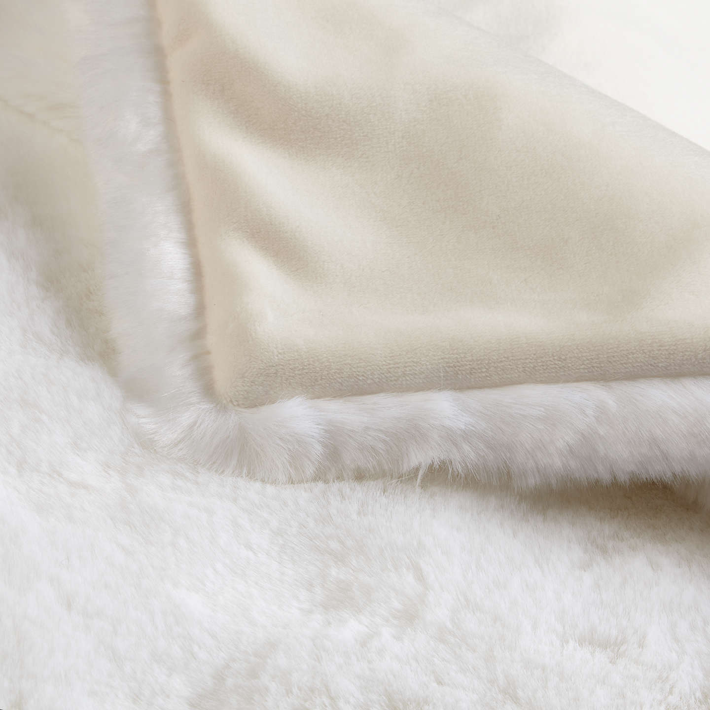 BuyJohn Lewis Faux Fur Throw, White Online at johnlewis.com
