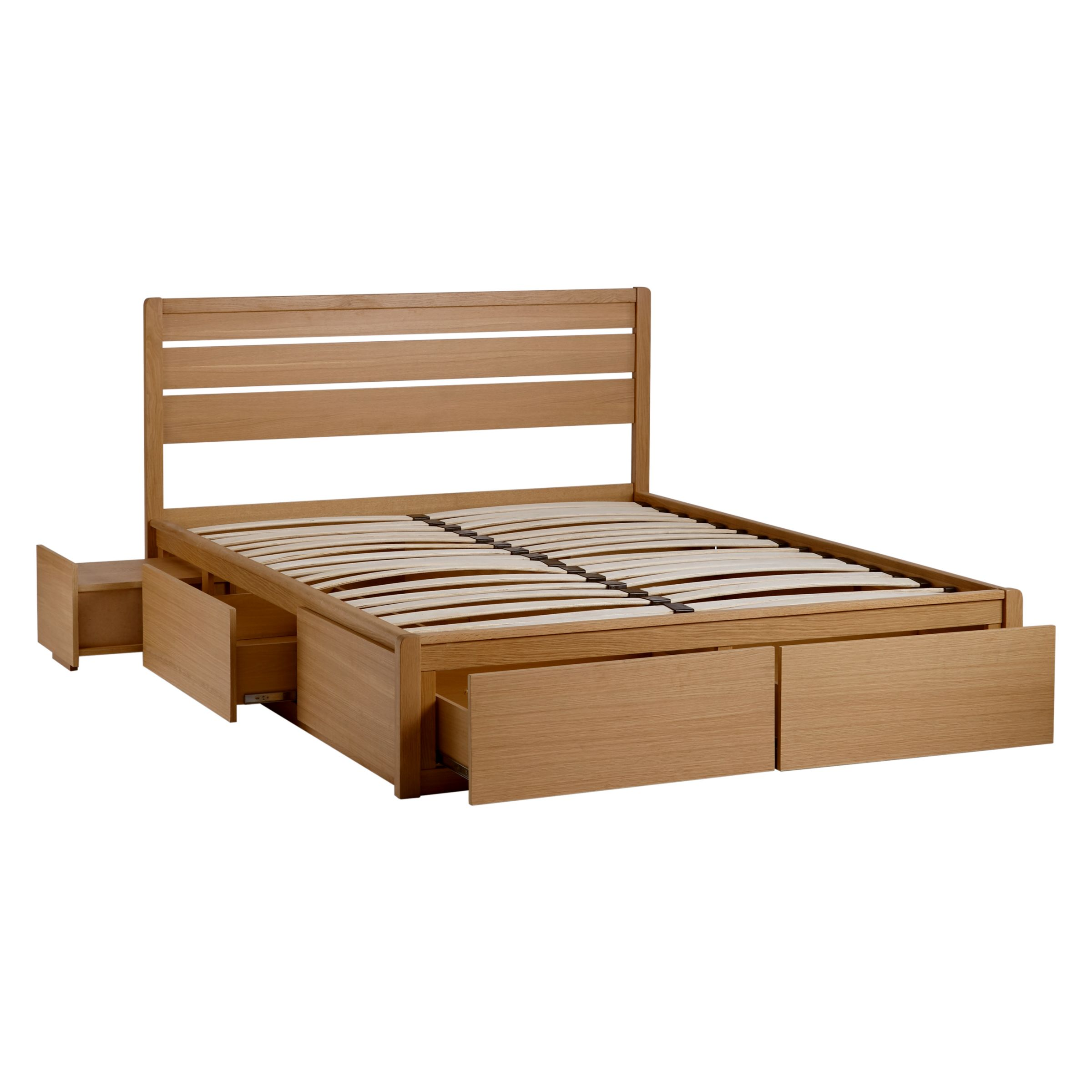 John Lewis Partners Montreal Storage Bed King Size Oak At John Lewis Partners