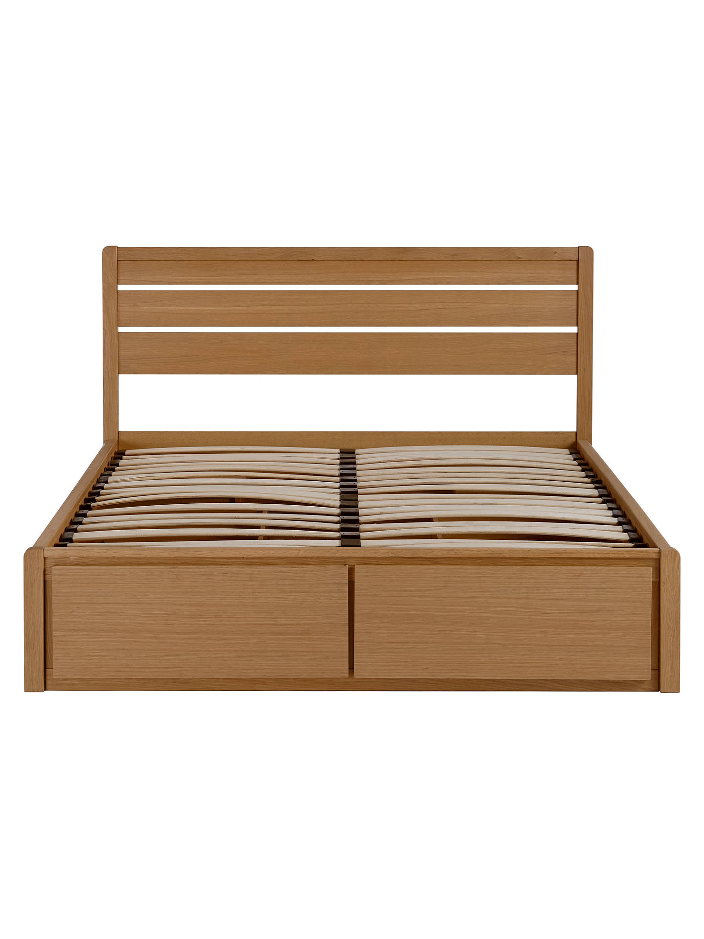 Buy John Lewis & Partners Montreal Storage Bed, King Size, Oak Online at johnlewis.com