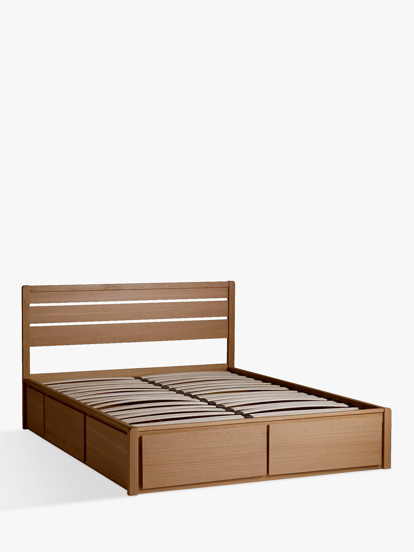BuyJohn Lewis & Partners Montreal Storage Bed, Double, Oak Online at johnlewis.com