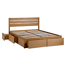 Buy John Lewis Montreal Storage Bed, Double, Oak Online at johnlewis.com