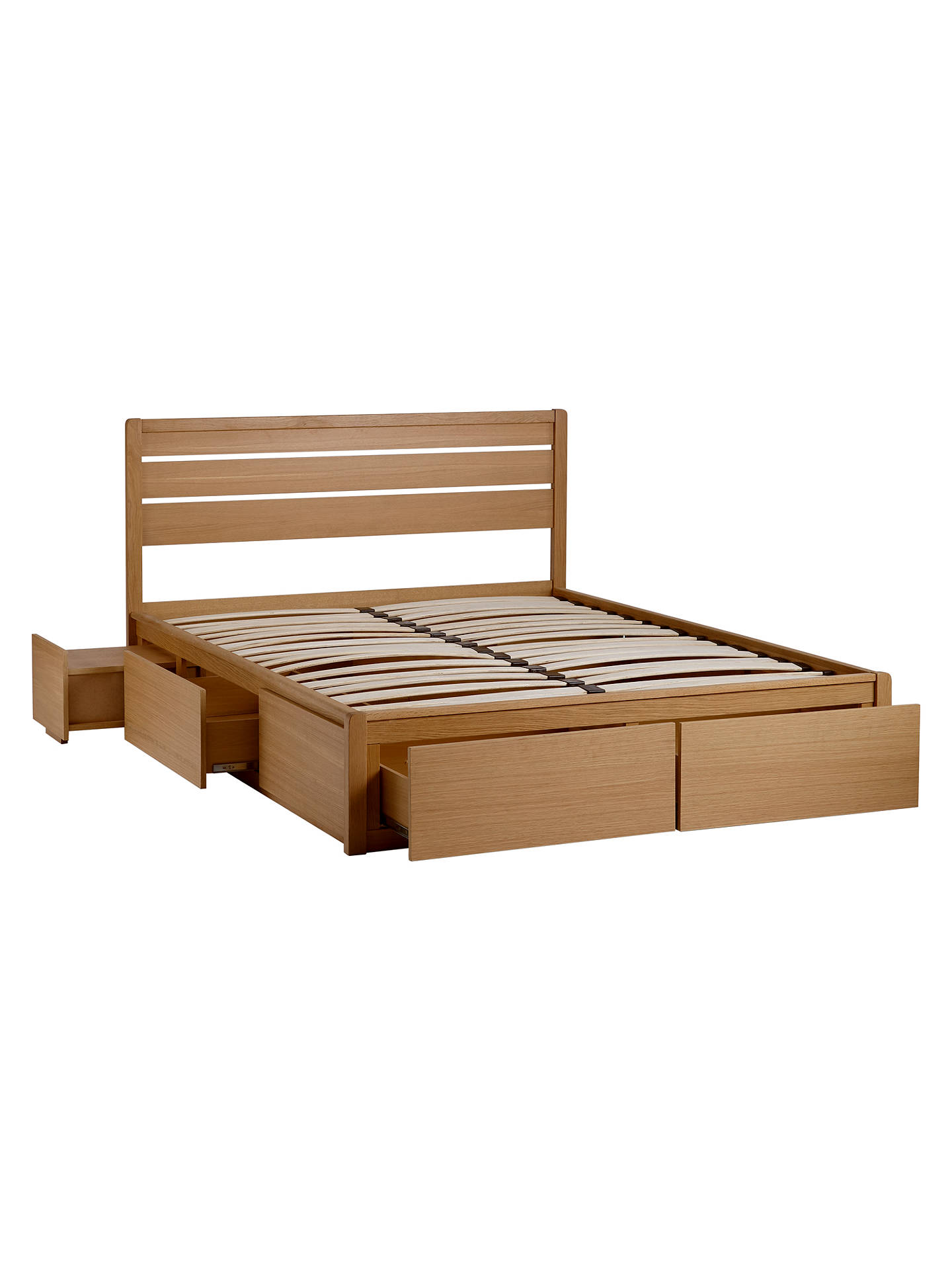 John Lewis Partners Montreal Storage Bed Double Oak At John Lewis Partners
