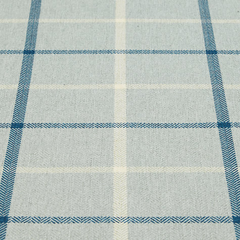 Buy John Lewis William Check Fabric, Duck Egg, Price Band B Online at johnlewis.com