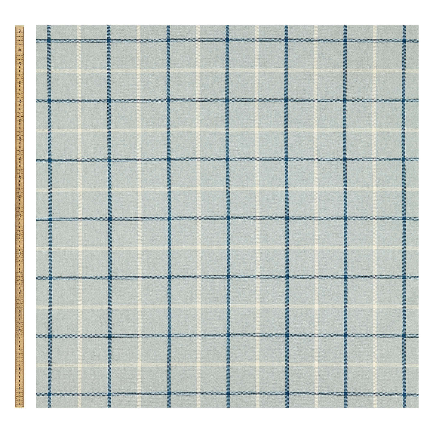 BuyJohn Lewis William Check Fabric, Duck Egg, Price Band B Online at johnlewis.com