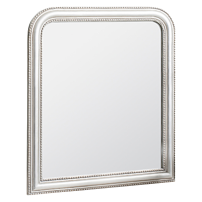 John Lewis Beaded Overmantle Mirror, 120 x 94cm