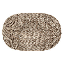 Buy John Lewis Croft Collection Braided Oval Door Mat Online at johnlewis.com