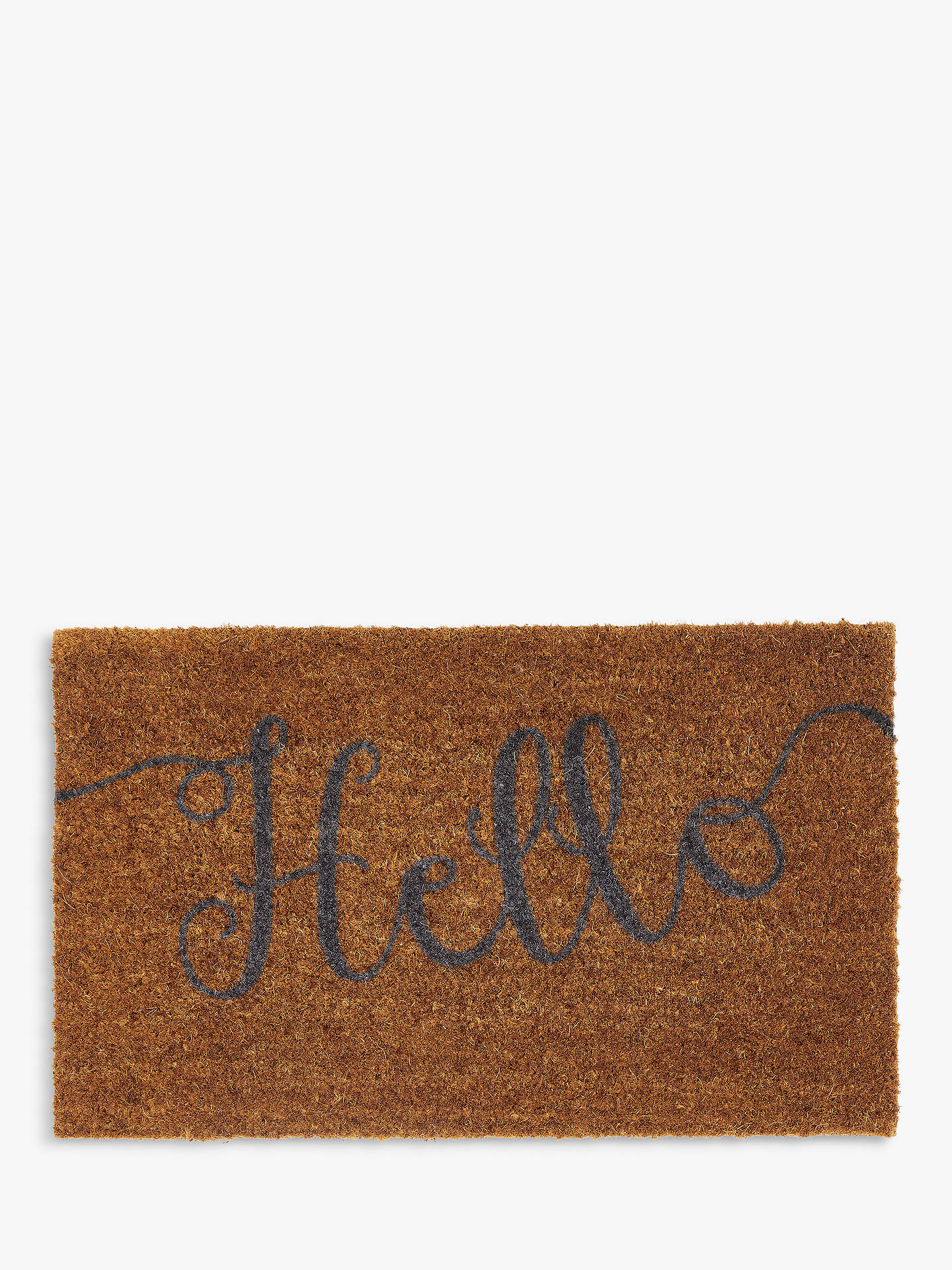Buy John Lewis & Partners Hello Door Mat, Natural Online at johnlewis.com