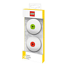 Buy LEGO Eraser, Pack of 2, Red/Green Online at johnlewis.com