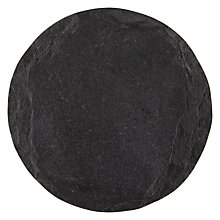 Buy John Lewis Croft Collection Slate Round Coasters, Set of 4 Online at johnlewis.com