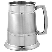 Buy English Pewter Company 1 Pint Satin Band Tankard Online at johnlewis.com