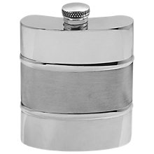 Buy English Pewter Company 6oz Plain Satin Band Hip Flask Online at johnlewis.com