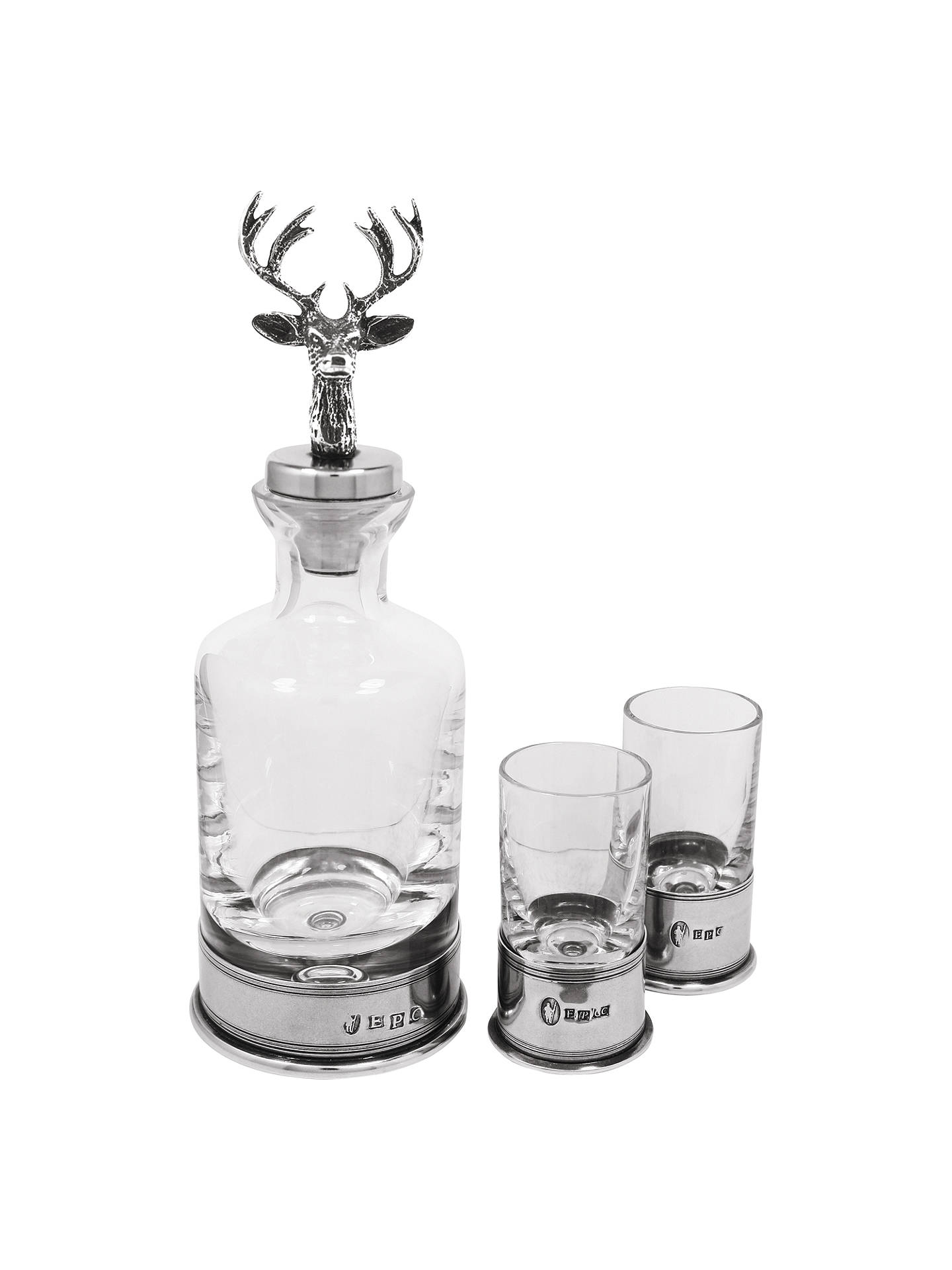 Buy English Pewter Company Stag Mini Decanter & Glass Set Online at johnlewis.com