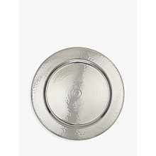 Buy John Lewis Fusion Hammered Metal 33cm Charger Plate Online at johnlewis.com