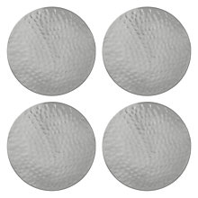 Buy John Lewis Fusion Hammered Metal Coaster, Set of 4 Online at johnlewis.com