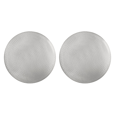 John Lewis & Partners Fusion Hammered Metal Placemat, Set of 2