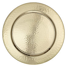 Buy John Lewis Fusion Hammered Metal Charger Plate, Dia.33cm Online at johnlewis.com