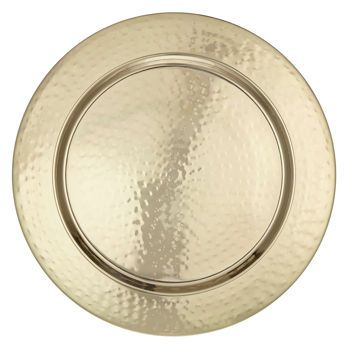 Ideal John Lewis Fusion Hammered Metal Charger Plate, Dia.33cm at John Lewis EE81