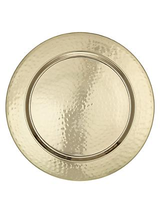 John Lewis & Partners Fusion Hammered Metal Charger Plate, Dia.33cm