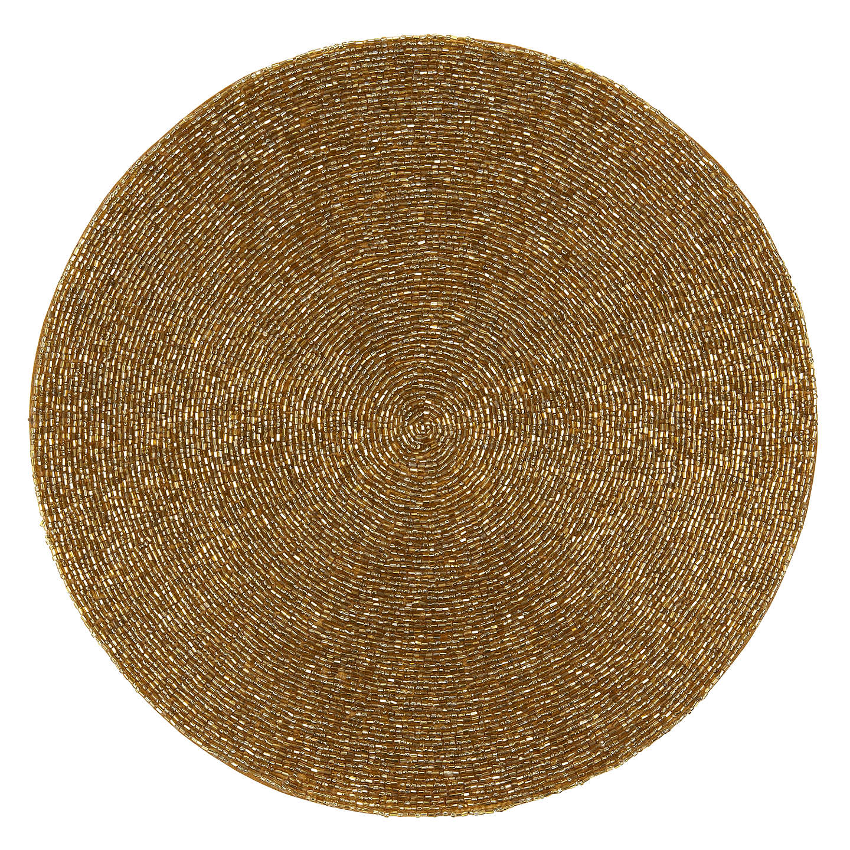 John Lewis Glass Bead Placemat Gold At John Lewis